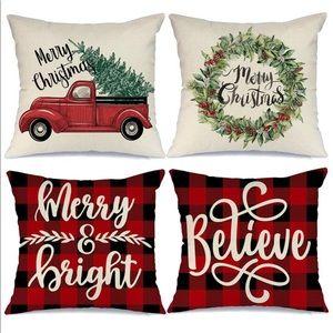 🎀 Farmhouse Christmas Pillow Covers 🎀 NEW